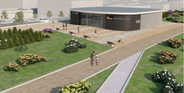 Imagen del proyecto de la nueva estación de Sant Andreu Comtal.
