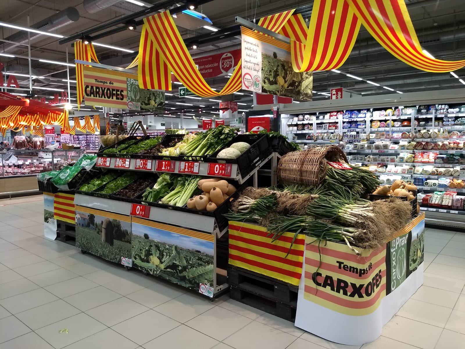 Las alcachofas del Prat son el producto estrella, también en los supermercados.