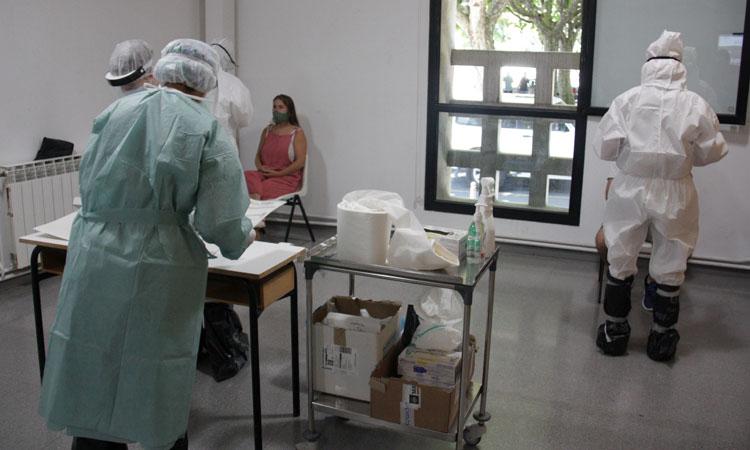 Uno de tantos cribajes necesarios para mantener controlada la pandemia. Foto: Albert Lijarcio - ACN