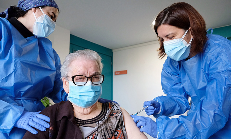 Josefa Pérez ha recibido la segunda dosis de la vacuna contra la covid-19.