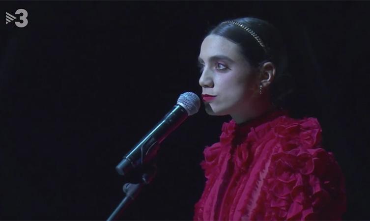 Juana Dolores en la Gal·la de Santa Llúcia 2020. Imagen: TV3