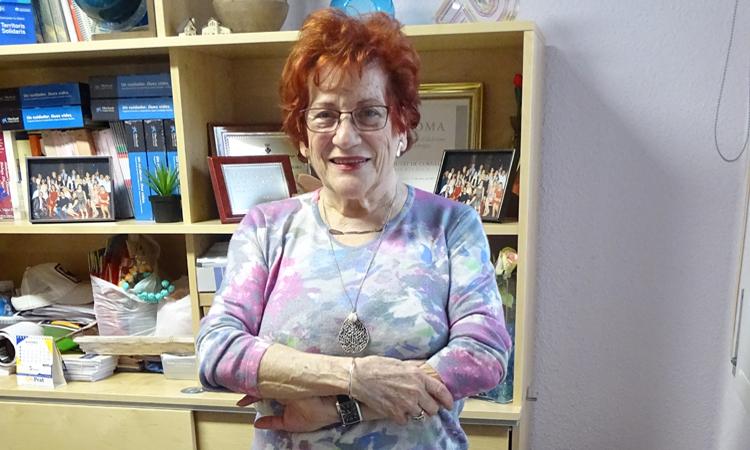 Maria Rosa Giner, presidenta de la Asociación de Familiares de Enfermos con Alzheimer