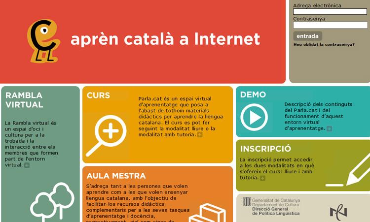 Parla.cat es una plataforma para aprender catalán online